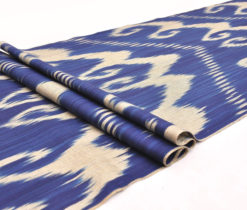 Midnight Blue Ikat fabric, Midnight Blue Cotton ikat fabric