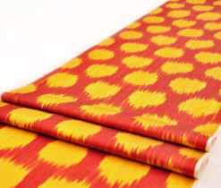 Ikat, Hand Woven, Home Spun, Indian Fabric, Fabric by the yard, Upholstery Fabric, Red Ikat, Fabric, IKAT FABRIC