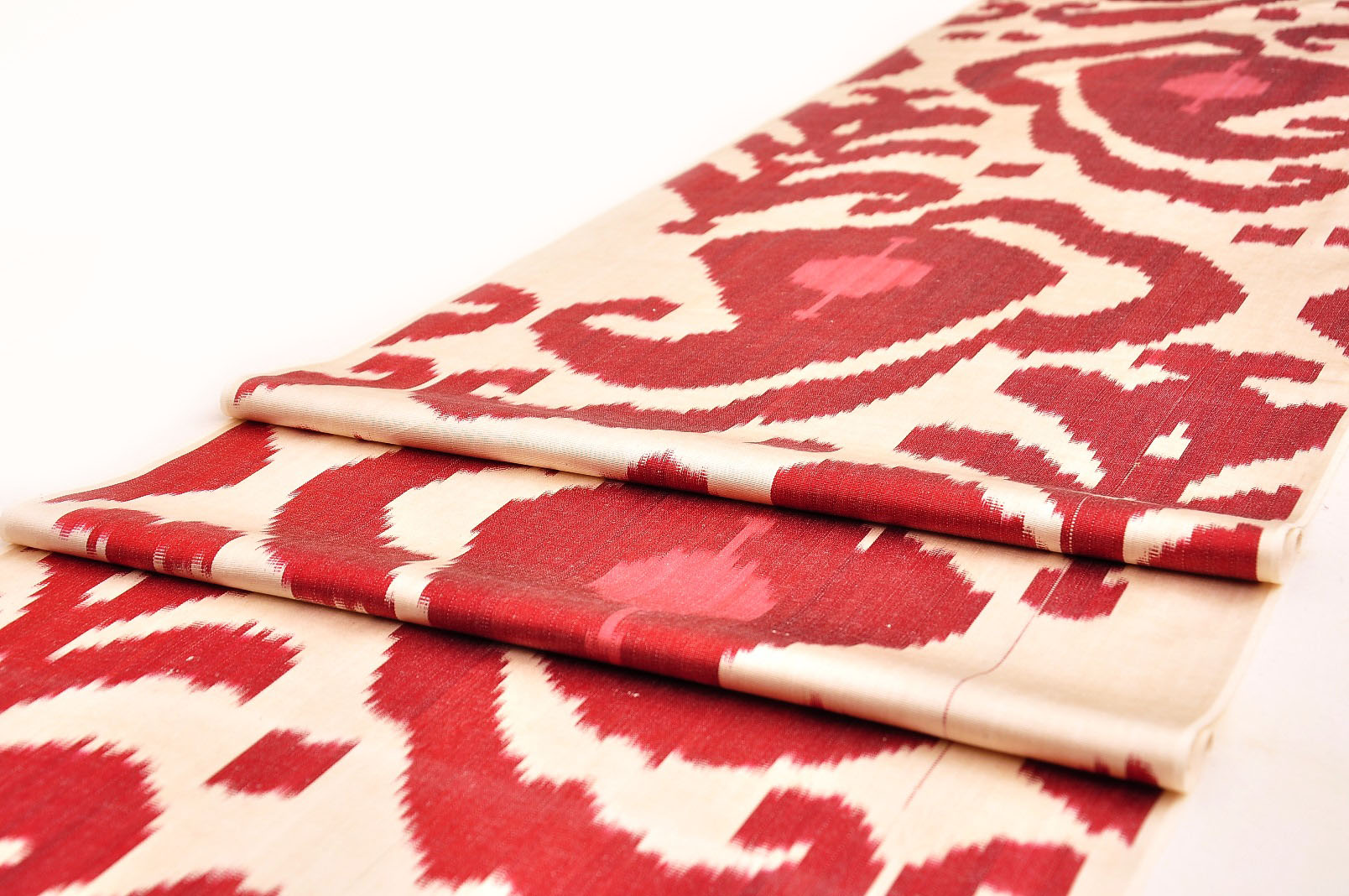 Red Paisley Upholstery Ikat Fabric Alesouk Grand Bazaar