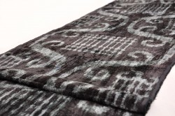 black silk ikat fabric