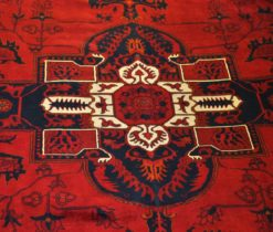 Dark Red Oriental Handmade Persian Rug