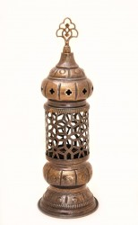 Brass Ball Candle Holder with Cross Motif / Brass Incense Burner / Brass Votive