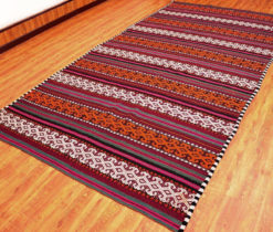 Handmade Wool Area Throw Kilim Rug