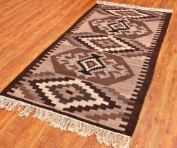 Anatolian Kilim Rug, Tribal Turkish Kilim Carpet