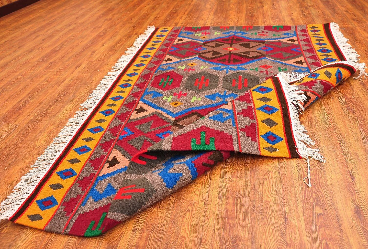 Colorful Kilim Rug Boho Alesouk