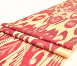 Indian red ikat