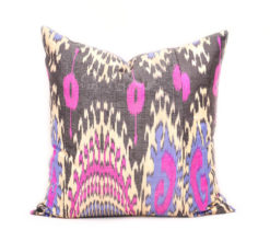 ikat pillow covers, ikat throw pillows