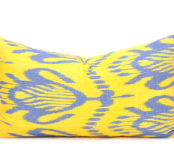 Yellow Silk Cushion Cover, Decorative Sofa Pillow