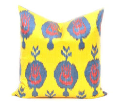 Yellow Accent Pillow Case, Decorative Toss Pillow