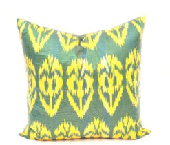 Green Decorative Toss Pillow, pillow forms, toss pillows, sofa pillows, pillow inserts, designer pillows, modern pillows,
