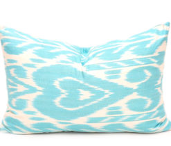 Turquoise Decorative Lumbar Cushion, Throw Pillow Cover