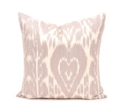 ikat pillow cover, Tan Decorative Ikat Cushion Cover