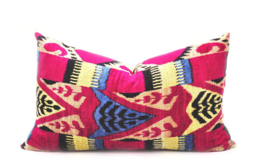 velvet ikat pillow cover, Lumbar Pillow Throw Pillow