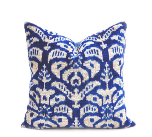 Blue Velvet Pillow Case, 16 inch x 16 inch pillow cover