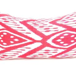 Red Handloom Decorative Ikat Cushion, ikat pillow cover