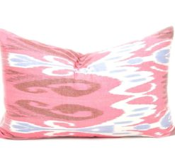 Lumbar Ikat Throw Pillow, Decorative Lumbar Pillow