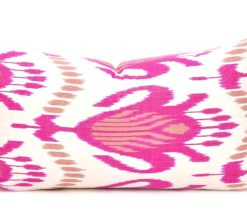 Lumbar Pillow Case Ikat Cushion, Lumbar Cushion Accent Pillow Case, Handloom Ikat Cushion