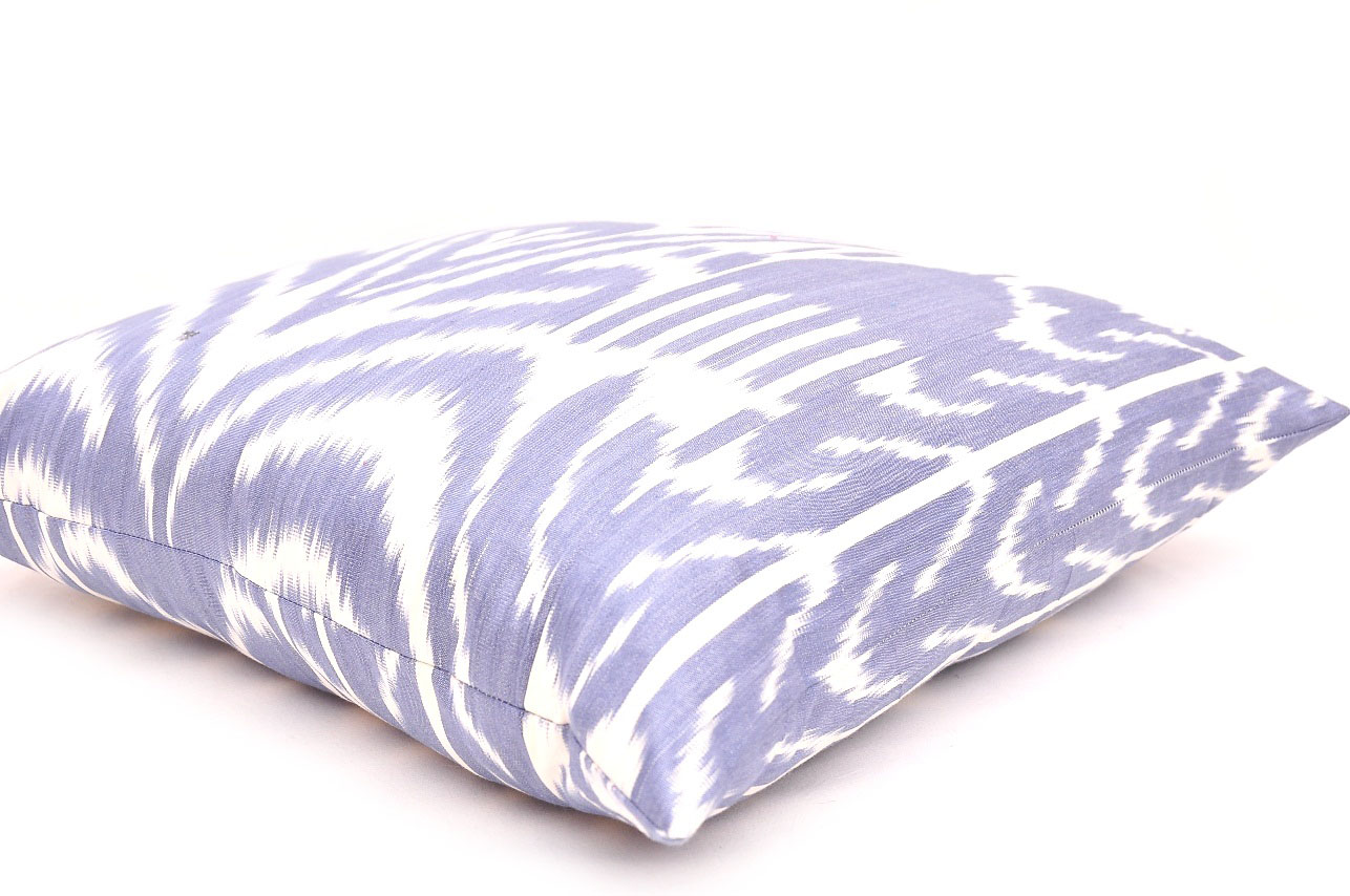 Average Throw Pillow Sizes : Blue Decorative Throw Ikat Pillow All Sizes Avaliable