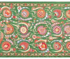 Green Decorative Suzani Wall Hanging, suzani bedspread handmade