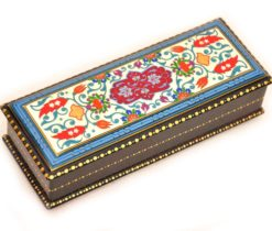 Blue Hand Painted Lacquer Box