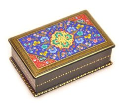 Blue Handmade Lacquer Box, black lacquer box, white lacquer box, lacquer storage boxes, small lacquer box, white lacquer storage box, palekh lacquer boxes, decorative lacquer boxes, lacquer box with lid, lacquered wood box, blue lacquer box, lacquered boxes modern, elle lacquer boxes, yellow lacquer box, korean lacquer boxes,