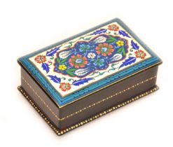 lacquer jewelry box, blue lacquer jewelry box