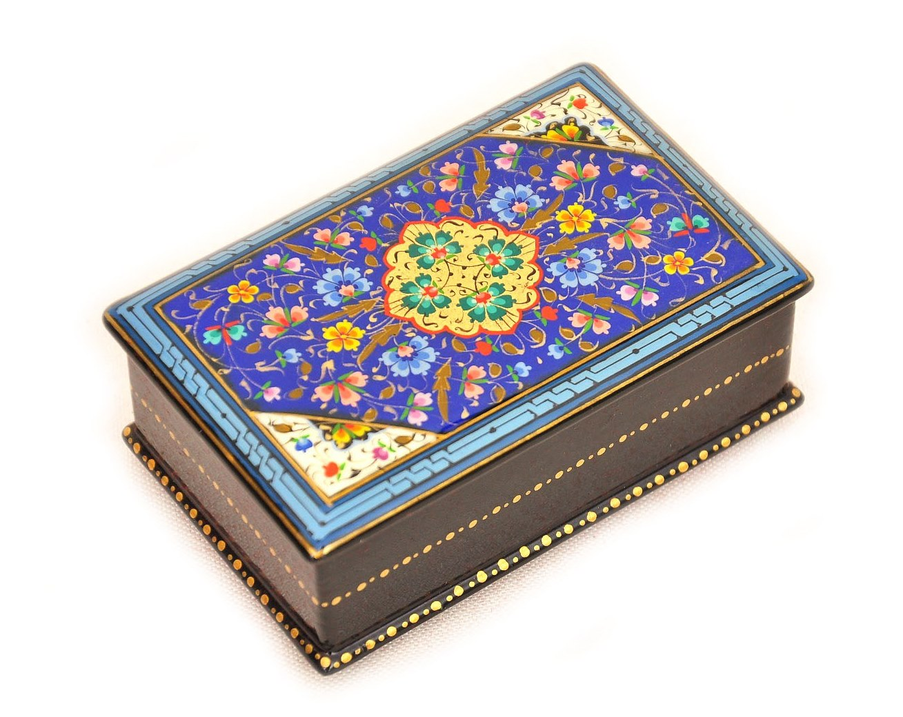 Decorative Oriental Blue Lacquer Box