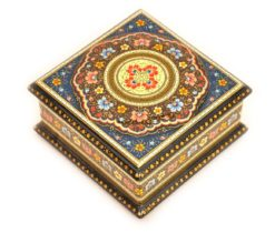 Beautiful Lacquer Earring Box, lacquer box, shoe ring holder, lacquerware japan, mirror box, mirrotek, beautiful box, jewellery cabinet, memory keepsake box, lacquerware,
