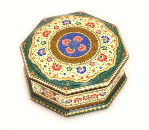 Hexagon Lacquer Decorative Box, lacquer box
