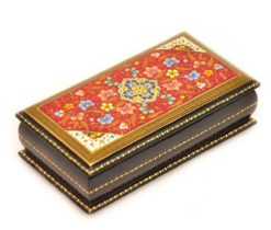 Red Hand Decorated Box, lacquer box