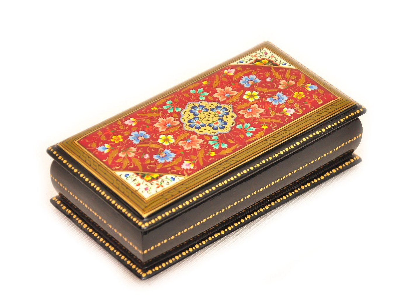 Red Hand Decorated Box Best Handmade Lacquer Box