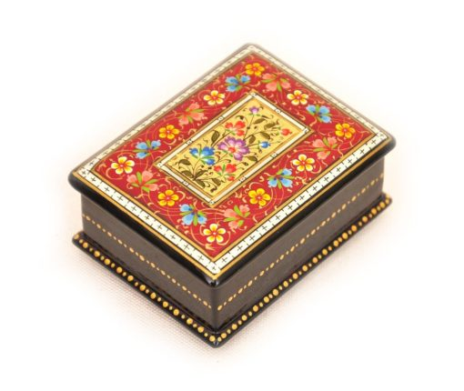 Bukhara Lacquer Box, small wooden boxes, wooden box, engraved wooden box, wooden heart box, unique wooden boxes, wooden memory box, keepsake wooden box,