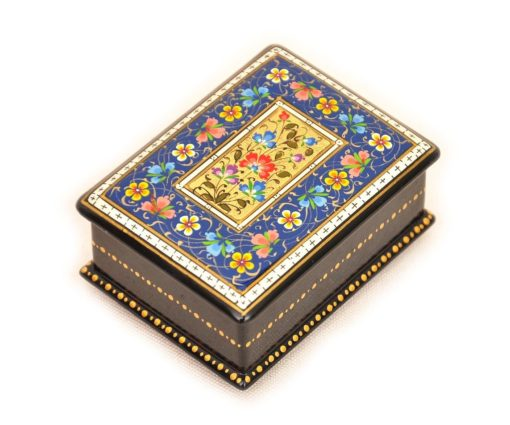 Blue Handmade Best Lacquer Box Accessory Artcraft, lacquer box handmade