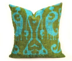 Decorative Pillow Cover, Green Velvet Throw Pillow