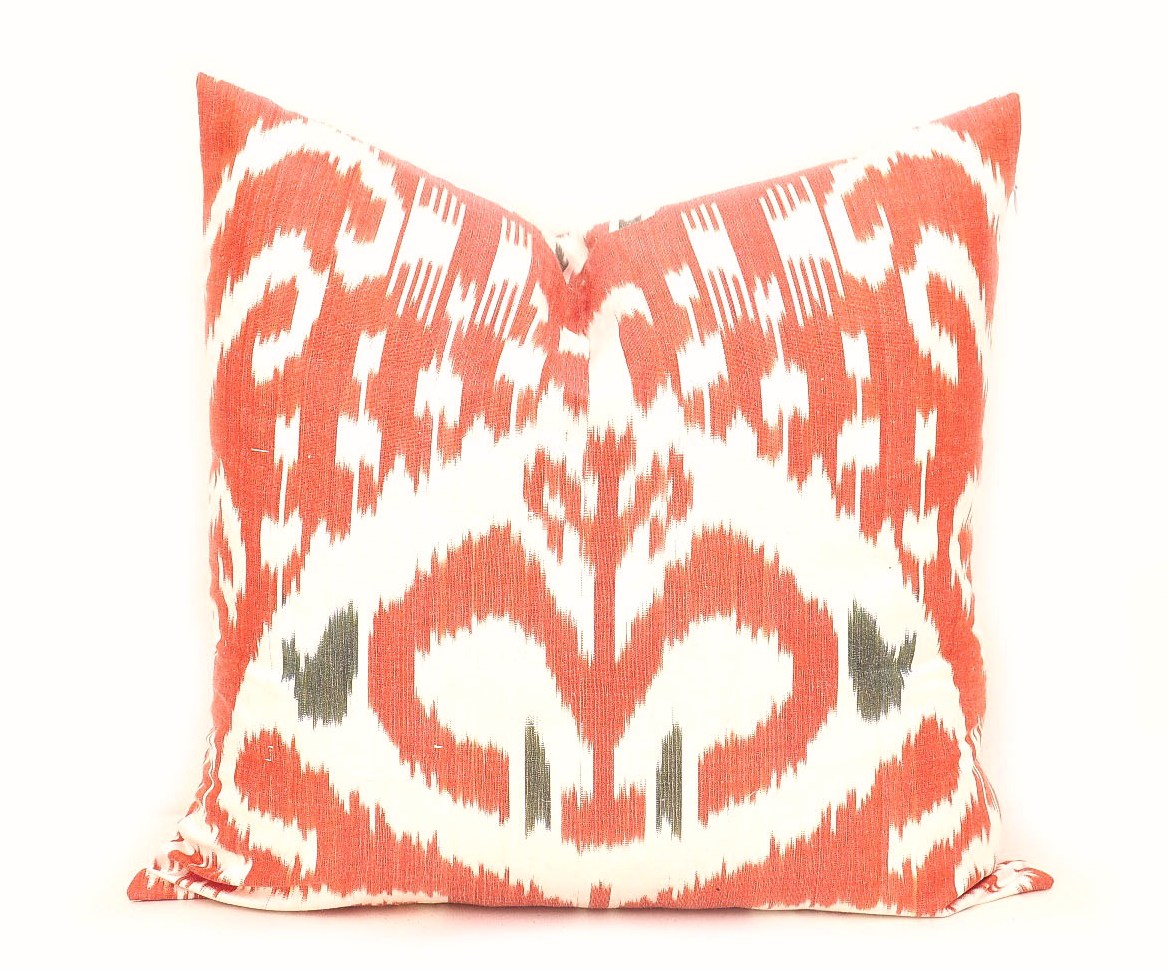 Lovesac Throw Pillow Covers : Red Throw Ikat Pillow Case - Alesouk Grand Bazaar online shopping
