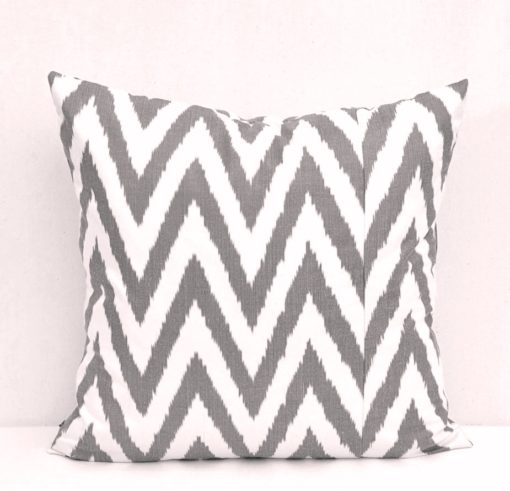 ikat cushion cover, Black Chevron Ikat Pillow