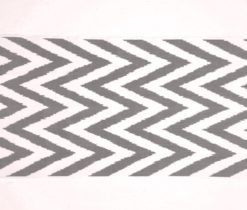 Black White Chevron Ikat Upholstery, ikat fabric by the yard