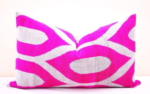 Pink Throw Velvet Cushion, Pink Velvet Decorative Pillow
