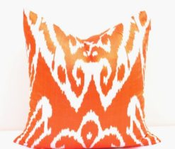 Orange Decorative Throw Accent Pillow