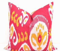 PILLOWS Red Decorative Ikat Pillow
