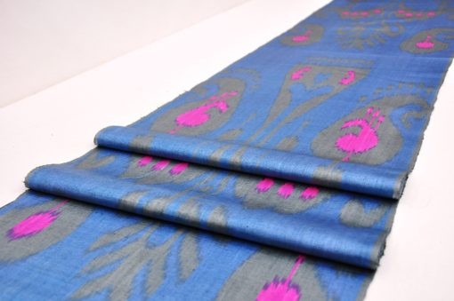 ikat fabric by the yard, Blue Ikat Fabric Wholesale