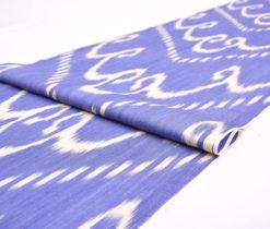 Decorator Ikat Fabric Upholstery, Blue Decorator Ikat Textile