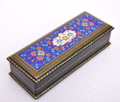 Lacquer Box, Blue Ornate Jewelry Box