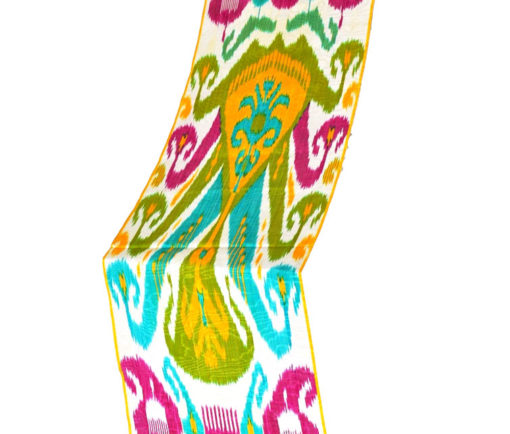 Lime Green Ikat Fabric by the yard