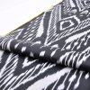 Black Ikat Upholstery Fabric Throw