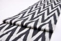 Black and white chevron Ikat fabric Silk