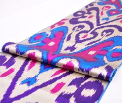 Butterfly Ikat Throw Fabric