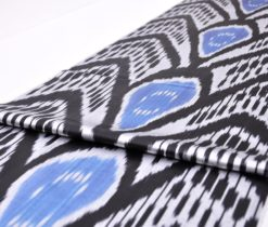 Silk Upholstery Ikat Fabric By The Yard