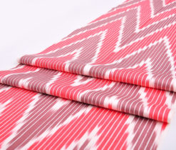 100% Cotton Chevron Design Ikat Fabric, Pink river chevron design Ikat fabric, 100% Cotton fabric