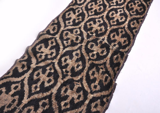 Black and Gold Velvet Fabric Upholstery, Velvet fabric, Uzbek Velvet ikat fabric, Upholstery fabric